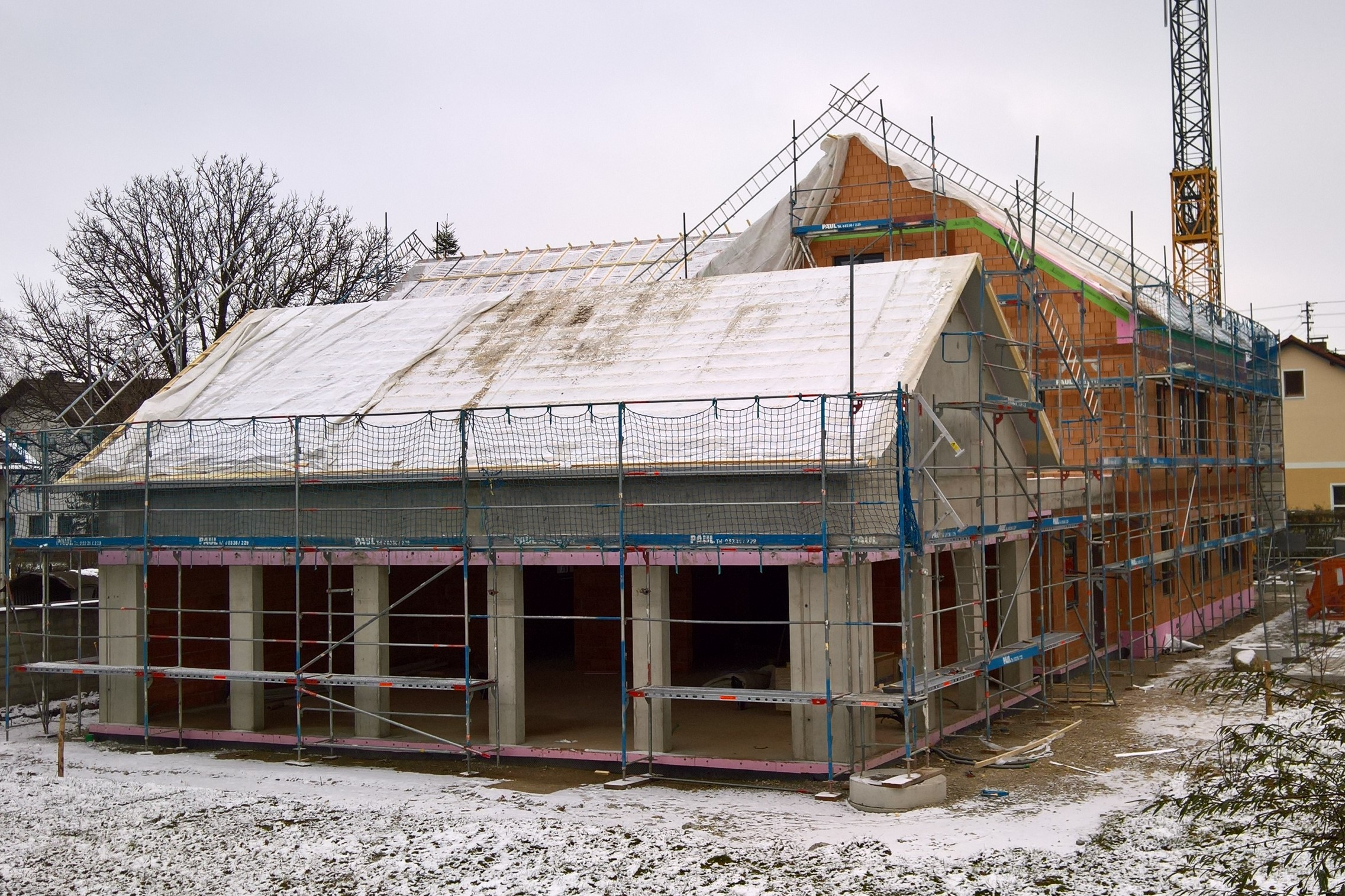 Blick auf die Rückseite mit Sitzungs-/Trauungssaal