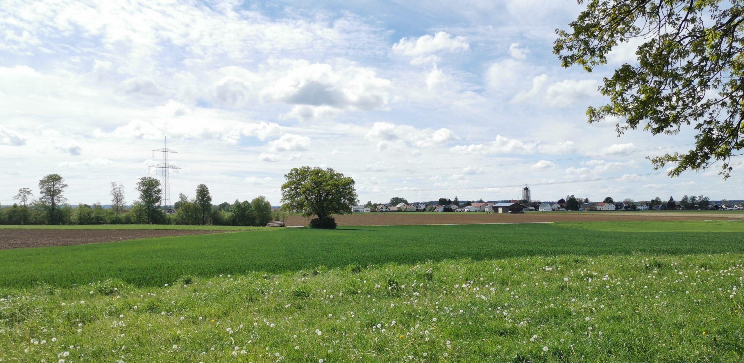 Die Aussicht auf Oberostendorf genießen