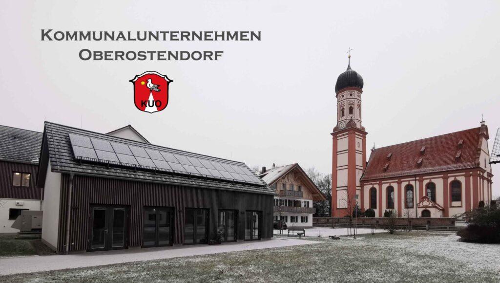 Willkommensbild Rathaus und Kirche